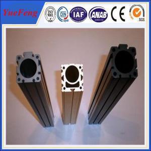 China Aluminium alloy extrusion column design with powder coat finish in white(black) on sale