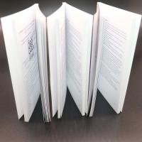 Quality Thick Adhesive Binding Saddle Stitched Booklet With Black / White Colour wholesale