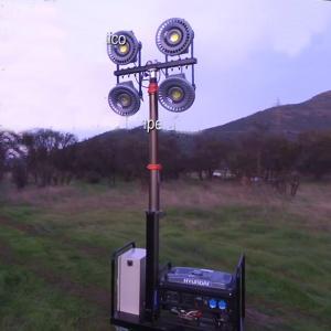 Quality 4.2m pneumatic telescopic mast LED mobile lighting tower wholesale