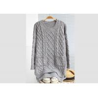 Quality Cables Leisure Loose Womens Knit Pullover Sweater For Young Girl Colleague Style wholesale
