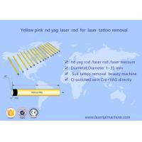 Buy cheap 5*85mm Nd Yag laser rod yellow pink crystal for tattoo removal beauty machine from wholesalers