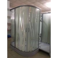 Quality Square Stall Stripe Glass Corner Shower Enclosures 15cm Height wholesale