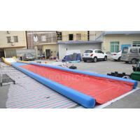 Quality 27m Long Air Sealed Inflatable Water Slides For Lakeside / Inflatable Slip N Slide wholesale