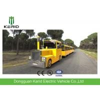 Quality Metal Structure Mini Trackless Train 62 Seats For Amusement Park Diesel Powered wholesale