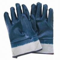 Quality Nitrile coated work gloves, chemical- and oil-resistant gloves, safety gloves  wholesale