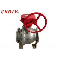 Quality DN150 6 Inch 2PC Trunnion Ball Valve CF8M Stainless Steel Split Body Price wholesale