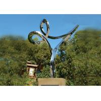Quality Professional Stainless Steel Outdoor Sculpture , Stainless Steel Art Sculptures wholesale
