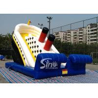 Quality Outdoor adventure huge titanic inflatable slide for kids playground wholesale