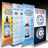 Quality Retractable Banner Stands , advertising aluminum roll up banner stand wholesale