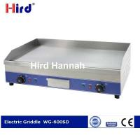 China CE Electric griddle Best cast iron griddle Chromed hot plate 9mm thick WG-600SD on sale