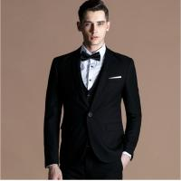 China Single Breasted mens fashion suits with Three Piece for Weddings on sale