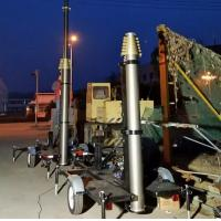 Cheap 21m trailer mast tower system/pneumatic telescopic mast/ mobile trailer system/ for sale