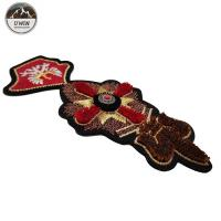 Quality Size Customized 3D Embroidery Patches Toothbrush Material With Sew On /  Iron On Backing wholesale