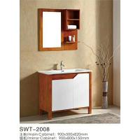 Quality 16mm Oak / Plywood Ceramic 36 Inch Bathroom Vanity 2 Doors Without Drawer wholesale