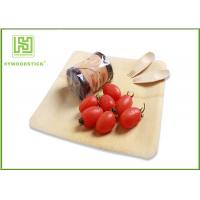 Quality Healthy Bamboo Sushi Plate , Compostable Bamboo Plates And Bowls With Logo wholesale