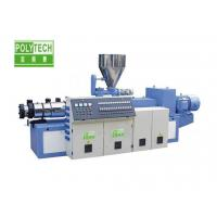 Counter Rotating Twin Screw Extruder , SJZS Twin Screw Plastic Extruder