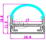 Quality Half round LED aluminium extruded profile housing for ceiling wholesale