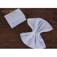 Quality 100% Cotton16s Hotel Face Towel White Terry Face Cloth With Embroidered Logo wholesale