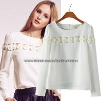 Quality Hot sale Long Sleeve Bead Blouse for Women wholesale