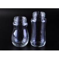 Cheap Eco - friendly transparent glass milk bottle for baby , glass infant bottles for sale