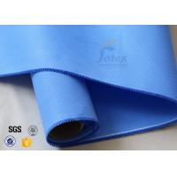 Quality 550 g/m2 0.55mm Blue Silicone Coated Fibreglass Fabric For Insulation Jacket wholesale