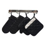 Quality Kitchen Textiles-Set of 2-Small Oven Mitts and Pot Holders with Pockets Set wholesale