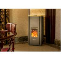 Quality Simple Installation Non Electric Wood Pellet Stove For Villa / Hotel / Restaurant 6KW wholesale