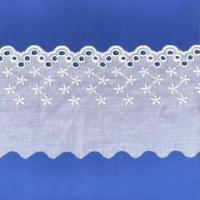 China Cotton Embroidered Lace, Suitable for Garment Accessories on sale