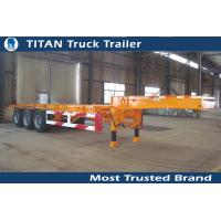 China Multi axle 20 feet gooseneck tank container trailer chassis with Double brake chamber on sale