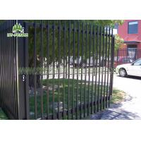 Quality Decorative Wrought Iron Spear Top Fencing Climb Proof With Powder Sprayed Coating wholesale