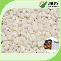China Milk White Hot Melt Glue Adhesive  For Bookbinding  ,  Coated Paper Industrial Hot Glue With High Quality on sale