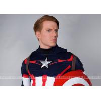 China Captain America Waxwork Waxfigure Sculpture Life Size Movie Statues on sale