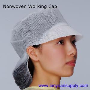 Quality Disposable Nonwoven Working Cap/Snood Cap/Bouffant Cap/Surgical Cap/Doctor Cap/Nursing Cap wholesale