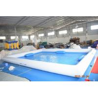 Quality Outdoor Activity White Inflatable Water Pool With 0.9mm PVC Tarpaulin wholesale