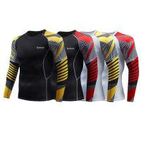 Buy cheap Multiple Color Mens Rash Guard Shirts Bulk Stain Repel Vented Airflow Unique from wholesalers