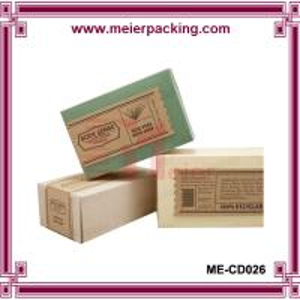 Quality Logo Printed Kraft Paper Soap Box/Elegant Design Handmade Soap Packaging Box ME-CD026 wholesale