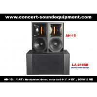 "Quality 600W Concert Sound Equipment , 1.4"" + 15"" Full Range Speaker For Show , Conference , Living Event And DJ wholesale"
