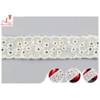Quality Fashion Embroidered Floral Cotton Eyelet Lace Trim For Nighty Trade Assurance wholesale