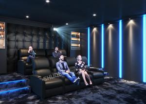 Quality Movie Reclining Sofa Chairs For Home Cinema System With Amplifier,3D Projector wholesale