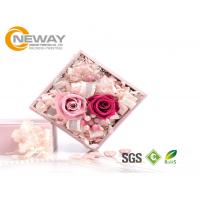 Quality Flower Gift Box , Pink Rose Waterproof Square flower paper box for Saint Valentine's Day wholesale