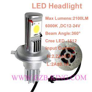 Quality wholesale 60Watts 2x cree-1512 2100LM 6000K white colour  car LED head lamp kits wholesale