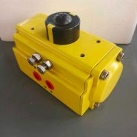 China aluminum alloy single and double acting pneumatic actuator on sale