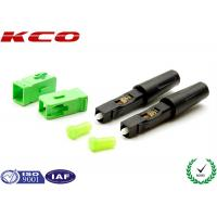 Quality Fiber Optic Field Assembly Connector SC / APC High Efficiency For  3.0 MM Cables wholesale