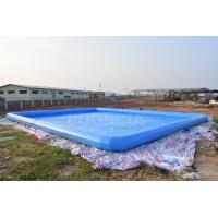 Quality 0.9mm PVC Tarpaulin Giant Inflatable Rectangular Water Swimming Pools For Water Park wholesale