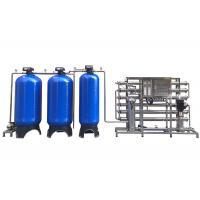 Quality Blue Fiber Glass 3TPH Water Softener System For Underground Water Purification wholesale