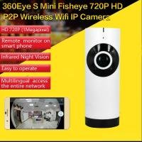 Quality EC2 Mini 180° Panorama Camera Wireless WIFI P2P IP Night Vision Home Security Surveillance iOS/Android APP Control wholesale