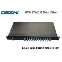 Quality 100Ghz Fiber Optical DWDM Mux Demux Module with 1U Plug-in Rackmount wholesale