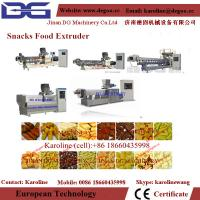China automatic double screw twin screw snack food extruder machine processing line on sale