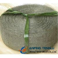 Cheap 60 Openings in 150mm Width, Metal Knitted Wire Mesh With 0.1-0.3mm Wire for sale