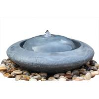 Quality Natural Flamed Granite Sphere Fountain , Outdoor Sphere Water Fountains For Backyards wholesale